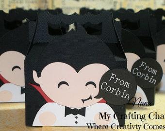 SM Vampire Halloween Treat Box Sets-Treat Box Sets-Treat Boxes-Halloween Favor Boxes-Classroom Party Boxes-Gift Boxes-Vampire