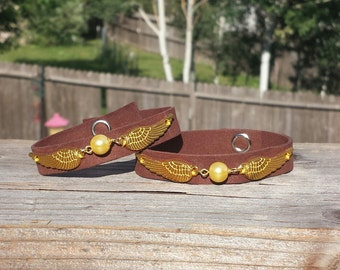 Harry Potter- inspired Golden Snitch Cuff