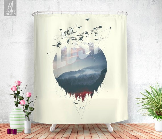 Happily Lost Shower Curtain Bathroom Decor Home By Happymelvin