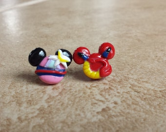Mulan and Mushu Mickey Mouse Inspired Earrings