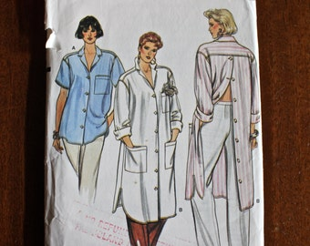 Vintage 1980s Very Easy Very Vogue Pattern 9324 Misses shirts sizes 8-10-12