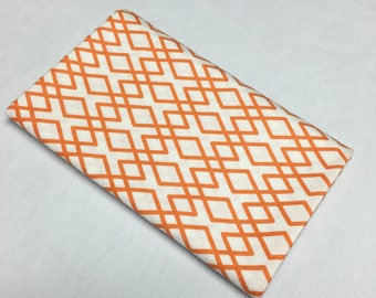 1 yard cut of orange and white fabric from the Lula Magnolia collection by the Quilted Fish fir Riley Blake fabrics.