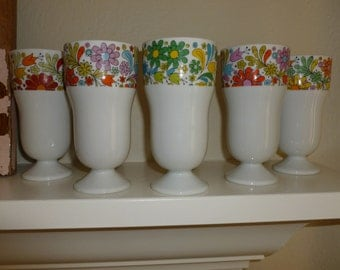 Vintage Set Of 1970's Drinking Glasses