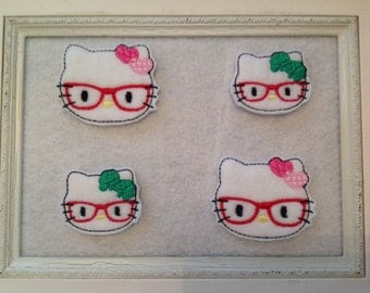 Kitty Feltie, St Patrick Kitty, Valentine Kitty, Your Choice and two Sizes, Always Precut