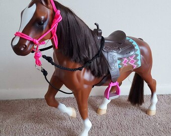 Handmade Contesting Bridle for Our Generation Battat American Girl Horses