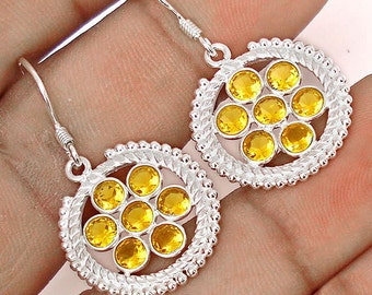 Earrings sterling silver .925 Citrine