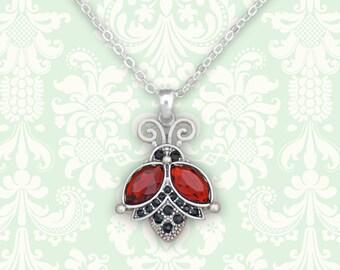 Flying Ladybug Necklace - 47455