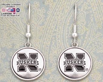 Nebraska Cornhuskers Medallion Earrings