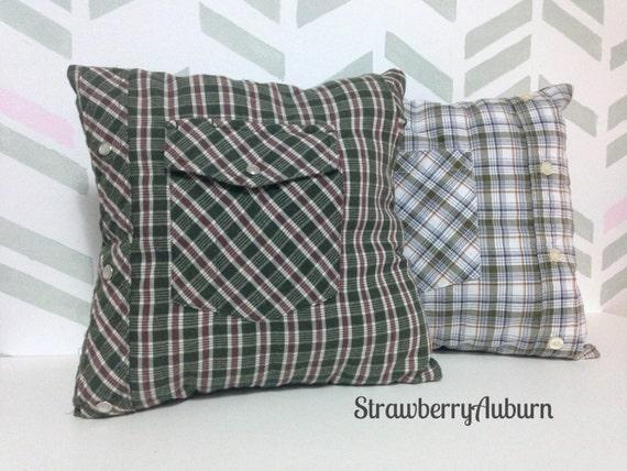 Memory Pillows Men s Shirt Pillows Button by StrawberryAuburn
