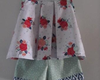 Handmade Girls Two Piece Short Set