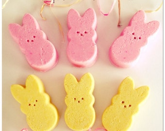 Peeps Pink Sugar & Marshmallow Scented Bath Fizzies Set of two