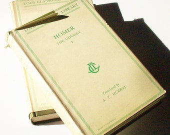 The Iliad and Odessey of Homer /  Original dustjackets / Published in 1963 / HALF OFF / Greek to English Translation Page by Page