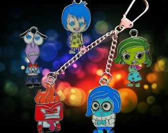 Disney Inside Out build your own double key chain/keyring five characters to choose from!
