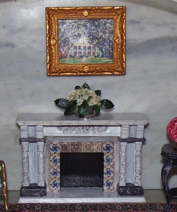 Mantel Arrangements: Floral Arrangement For Fireplace Mantle. By