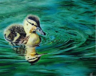 """PRINT """"Duckling"""" - pastel & prisma colour"""