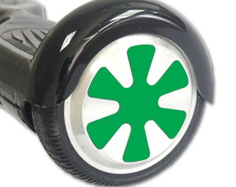 Skin Decal Wrap for Hoverboard Balance Board Scooter Wheels Solid Green