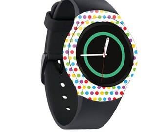 Skin Decal Wrap for Samsung Gear S2, S2 3G, Live, Neo S Smart Watch, Galaxy Gear Fit cover sticker Candy Dots
