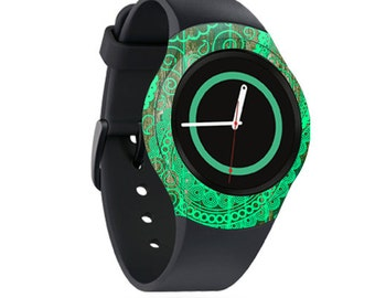 Skin Decal Wrap for Samsung Gear S2, S2 3G, Live, Neo S Smart Watch, Galaxy Gear Fit cover sticker Vintage Paisley