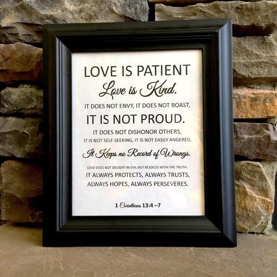 Love Is Patient Love Is Kind...Corinthians Verse