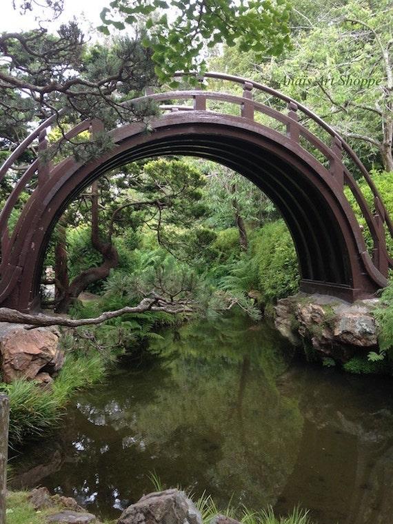 Items similar to japanese garden bridge san francisco for Zen garden bridge
