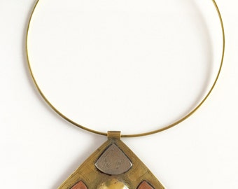 SALE! Africa Inspired Brass Choker Necklace