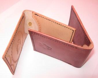 Elegant Handmade Leather Card Holder, Credit card holder