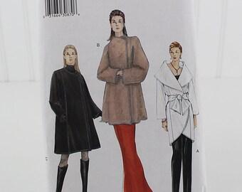 Vogue Coat Pattern, UNCUT Sewing Pattern, V7185, Size XS, S, M
