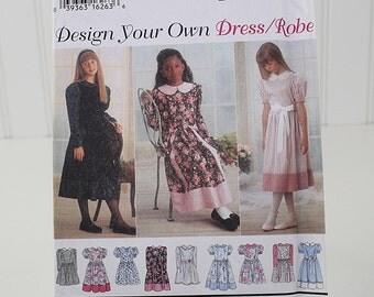Girl's Chubbies' Dress Pattern, Uncut Sewing Pattern, Simplicity 9309, Size 7-14