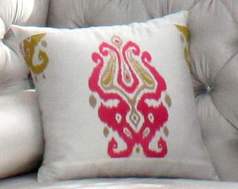 """Custom Maded Decorative Throw Pillow """"Foster-Gypsy"""", 12 Sizes Available, Throw Zipper Pillow"""