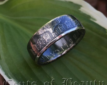 Coin Rings Handmade from Italian 500 Lire 83.5% Silver Size 6-13