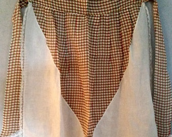 Vintage Organza Apron with Lace, Excellent Condition, FREE SHIPPING, Vintage Kitchen