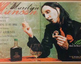"Marilyn Manson GIANT WIDE 42""x 24"" Poster Print Antichrist Superstar Absinthe Drug Concert"