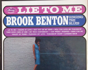 Brook Benton, Lie to Me, Vintage Record Album, Vinyl LP, American Blues Singer, Songwriter, 1950s Popular Music, Mercury Records