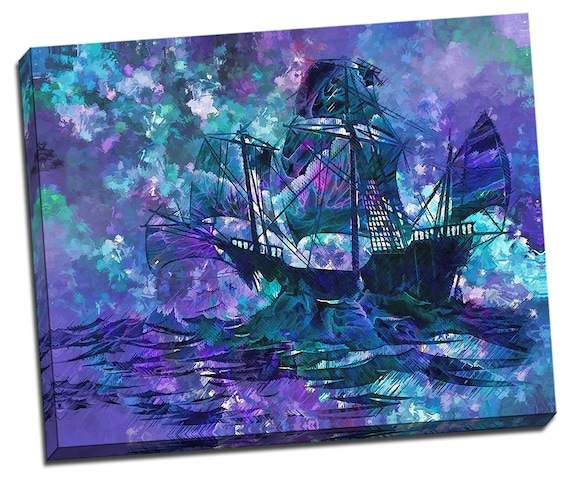 Abstract Ship   Mirror Wrap HP Professional Matte Canvas
