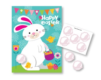 Pin the Tail on the Bunny/Rabbit- Easter party game - DIY party game for school parties - Easter Bunny party game
