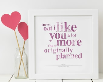 Personalised Love Print; Funny Love Gift; Valentines Gift; I Love You Print; Love; Love Gift; Gift For Her; Girlfriend Gift; PAP02