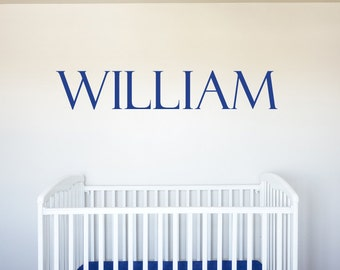Name - Vinyl Decal Wall Art Decor for Nursery Children Boys Babies Room