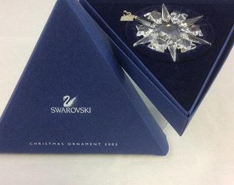 MIB Swarovski Christmas Ornament, Limited Edition 2002, #288802