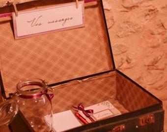 Suitcase urn range |mariage lavender tones of mauves|