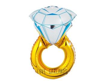"Diamond Engagement Ring Balloon, 30"" Wedding Ring Balloon, Engagement Photoshoot Prop, Wedding Photo Shoot Prop, Anniversary Photoshoot Prop"