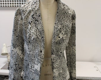 Black and White Patterned Blazer
