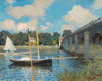 Claude Monet: The Bridge at Argenteuil. Fine Art Print/Poster. (003565)