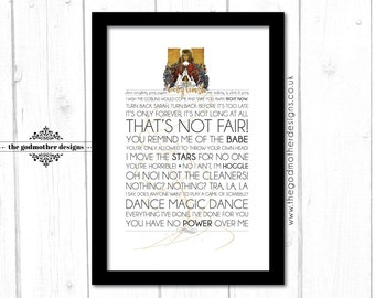 Labyrinth - Movie - Quotes & Words - Typography - PRINT