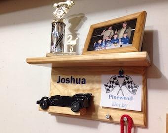 CubScout, Pinewood, Derby Car, Display Shelf Unit, 1 car Display, Trophy Display