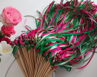 Chopsticks ribbons for wedding theme Liberty Chic