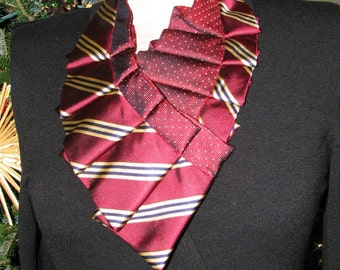 Silk Necktie Collar - Silk Necktie  Necklace - Unique accessory - OOAK Neckwear