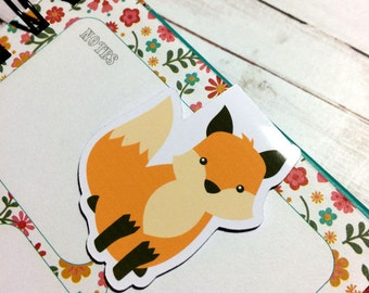 One Magnetic Bookmark/Page Marker. Fox Friends - Sitting Fox