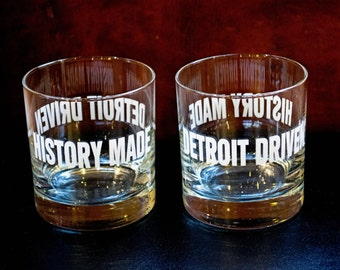 History Made - Detroit Driven Rocks Glasses: Set of 4