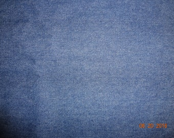 """Blue Denim Chambray Fabric by the yard - 60"""" wide"""