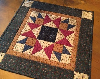Quilted Table Topper / Country Decor / Handmade /  Item #1321
